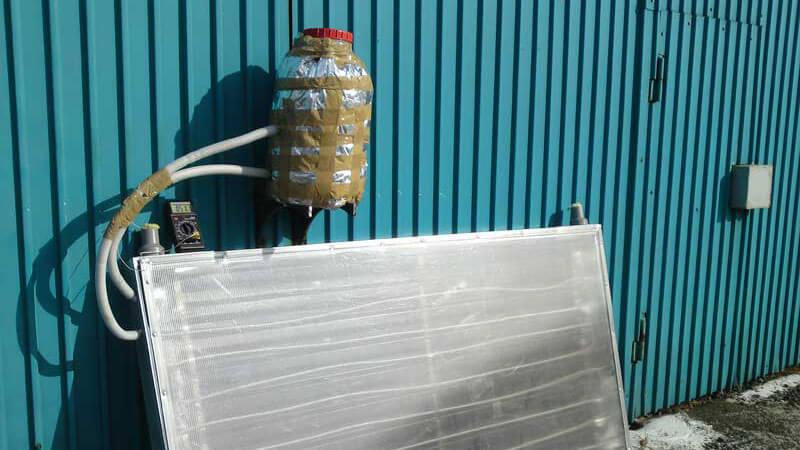 Солнечный радиатор для нагрева воды своими руками