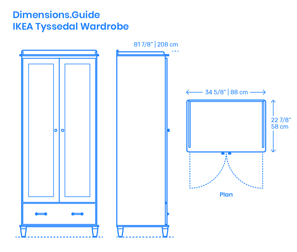 Ikea Pax Click And Collect Ikea Tyssedal Wardrobe Dimensions Drawings Dimensions Guide