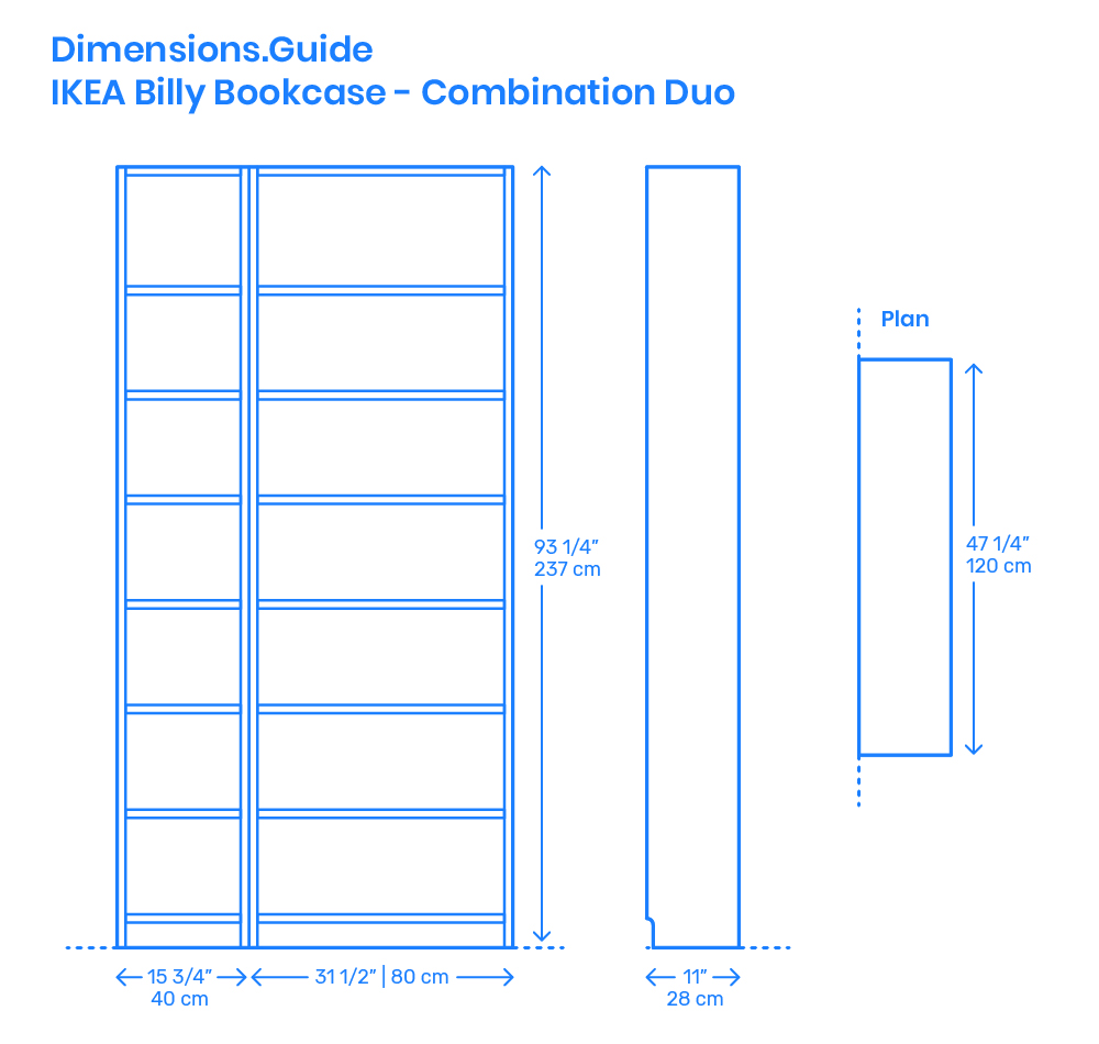 Billy Ikea Dimensions Ikea Billy Bookcase Combination Duo Dimensions Drawings