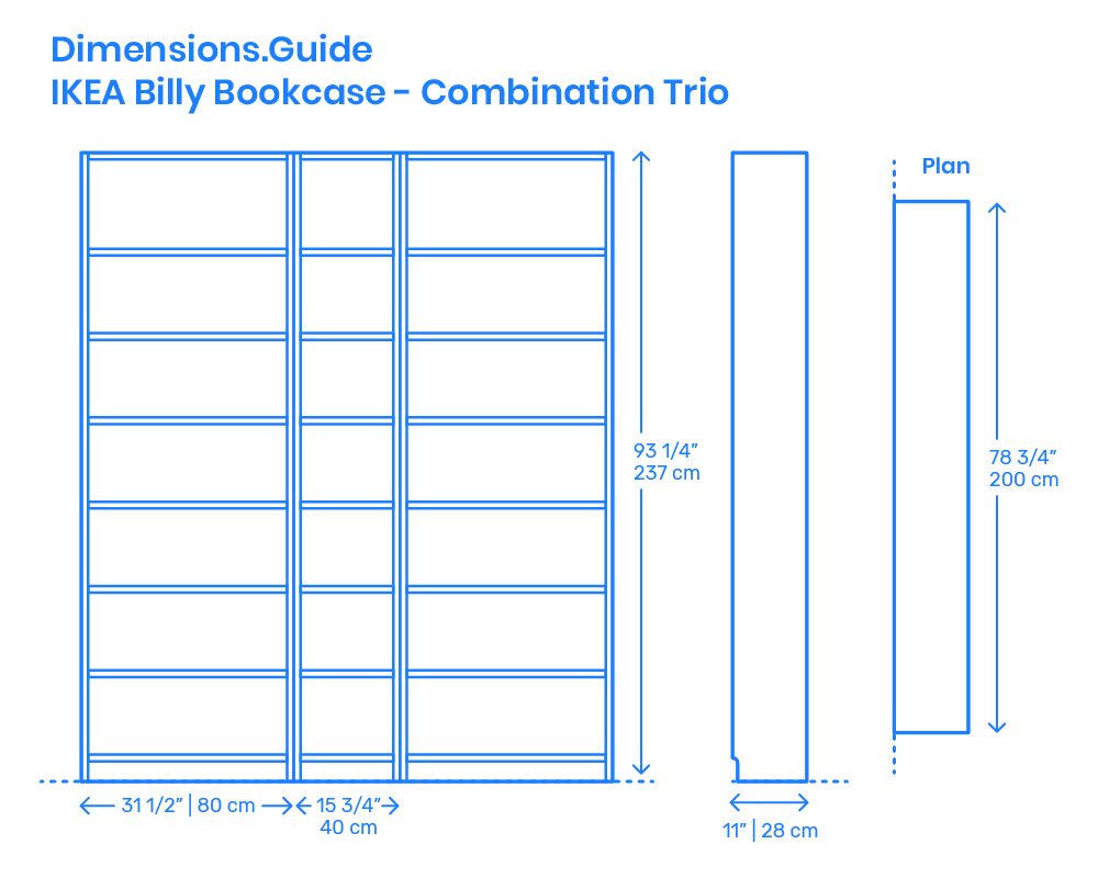 Billy Ikea Dimensions Ikea Billy Bookcase Combination Trio Dimensions Drawings