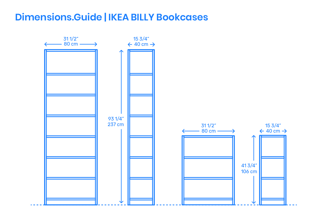 Billy Ikea Dimensions Ikea Billy Bookcases Dimensions Drawings Dimensions Guide