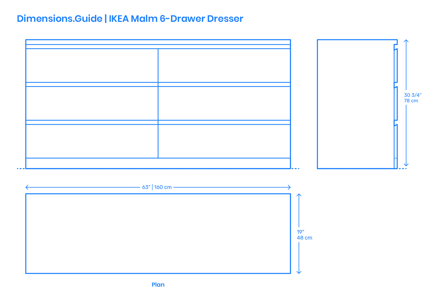Billy Ikea Dimensions Ikea Malm 6 Drawer Dresser Dimensions Drawings Dimensions Guide