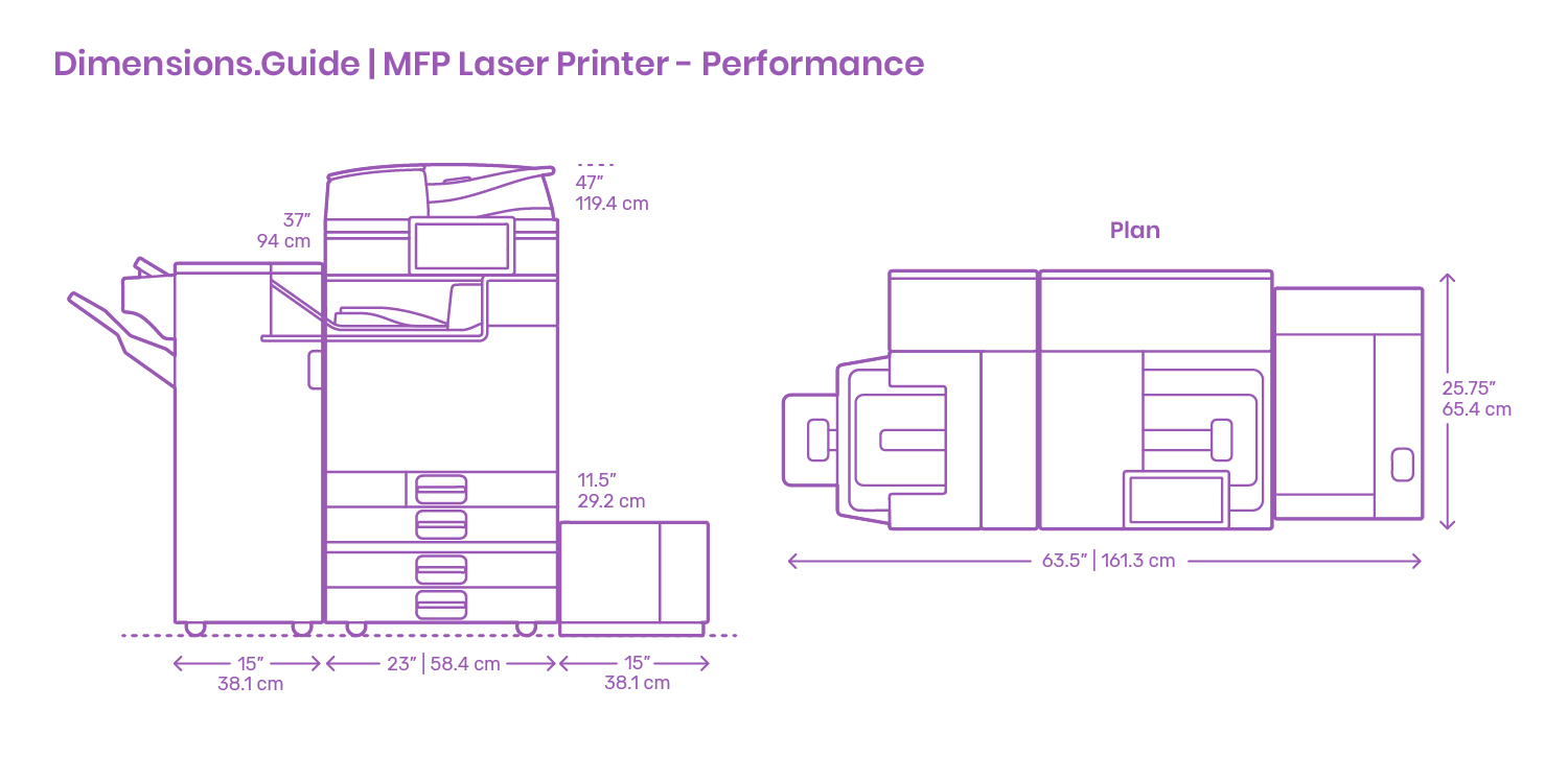 Ikea Küche Dwg Mfp Performance Laser Printer Dimensions Drawings Dimensions Guide