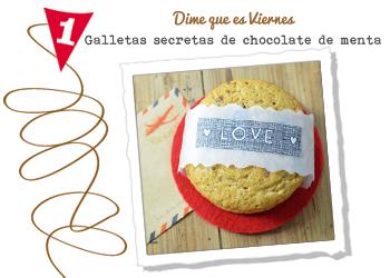 Cookies de chocolate de menta