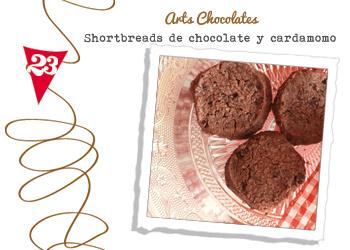 shortbreads de chocolate y cardamomo