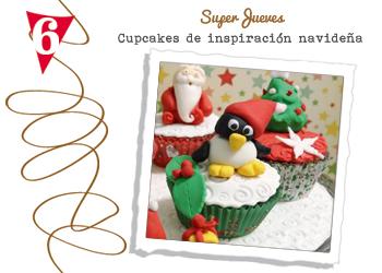 cupcakes de inspiración navideña