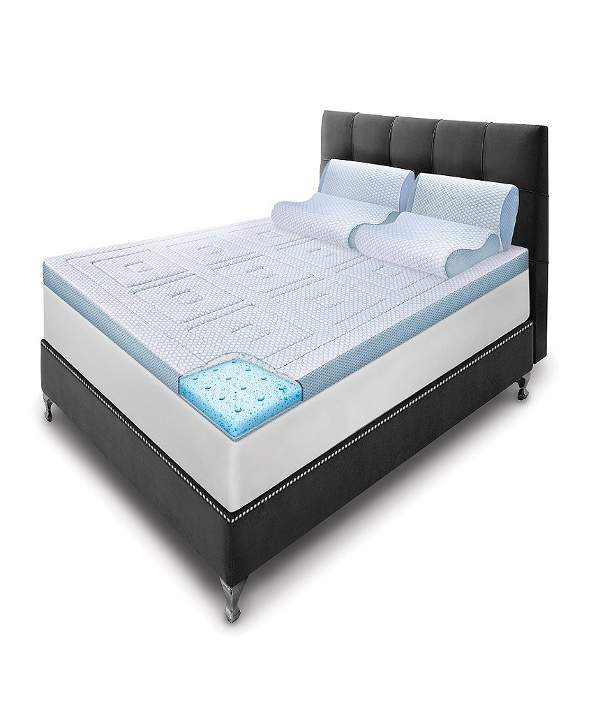 Beds Memory Foam Mattress Sensorpedic Sensorcool Gel Memory Foam Mattress Topper