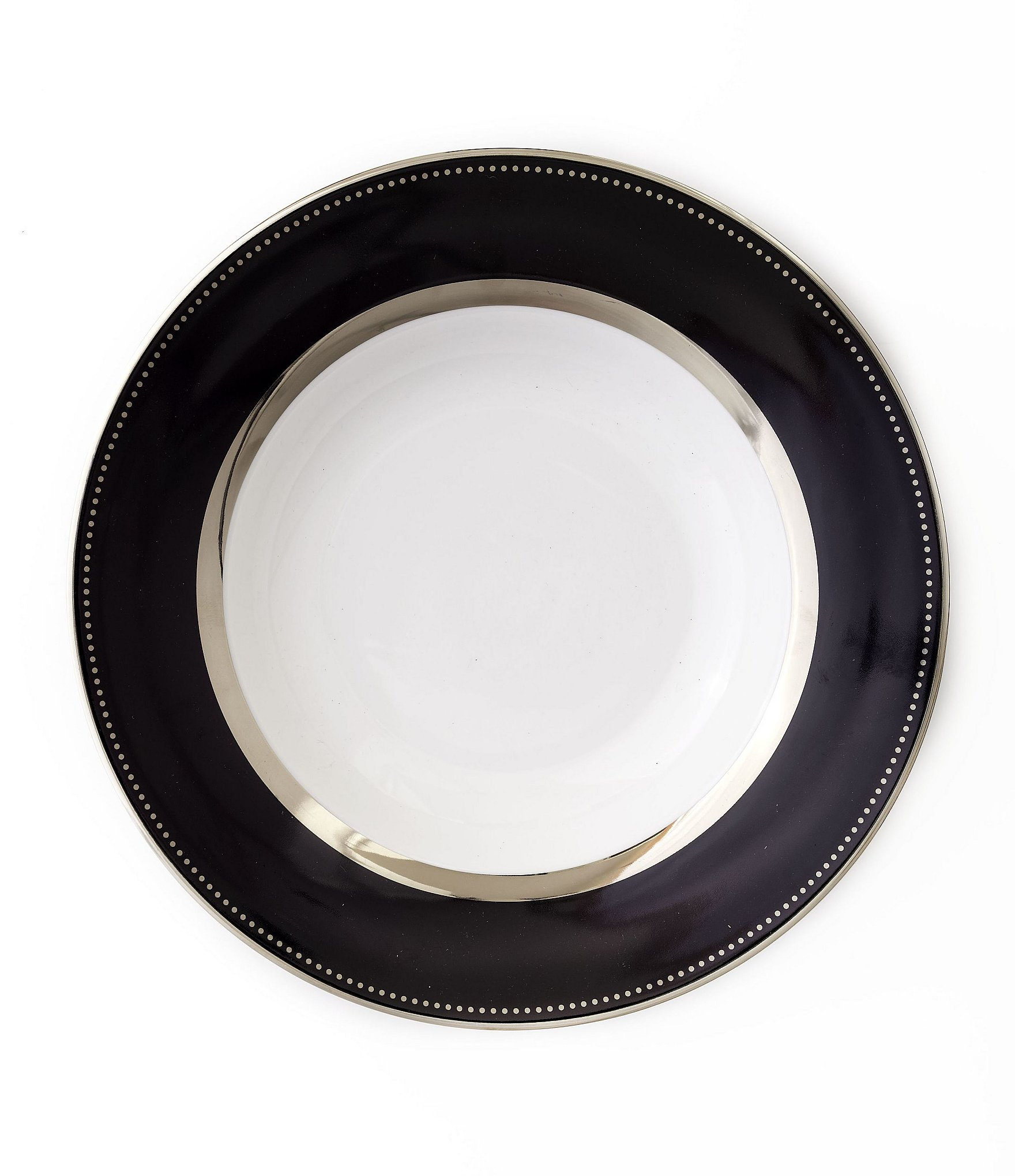 Black Serving Tray Darbie Angell Black Luxe Round Platter