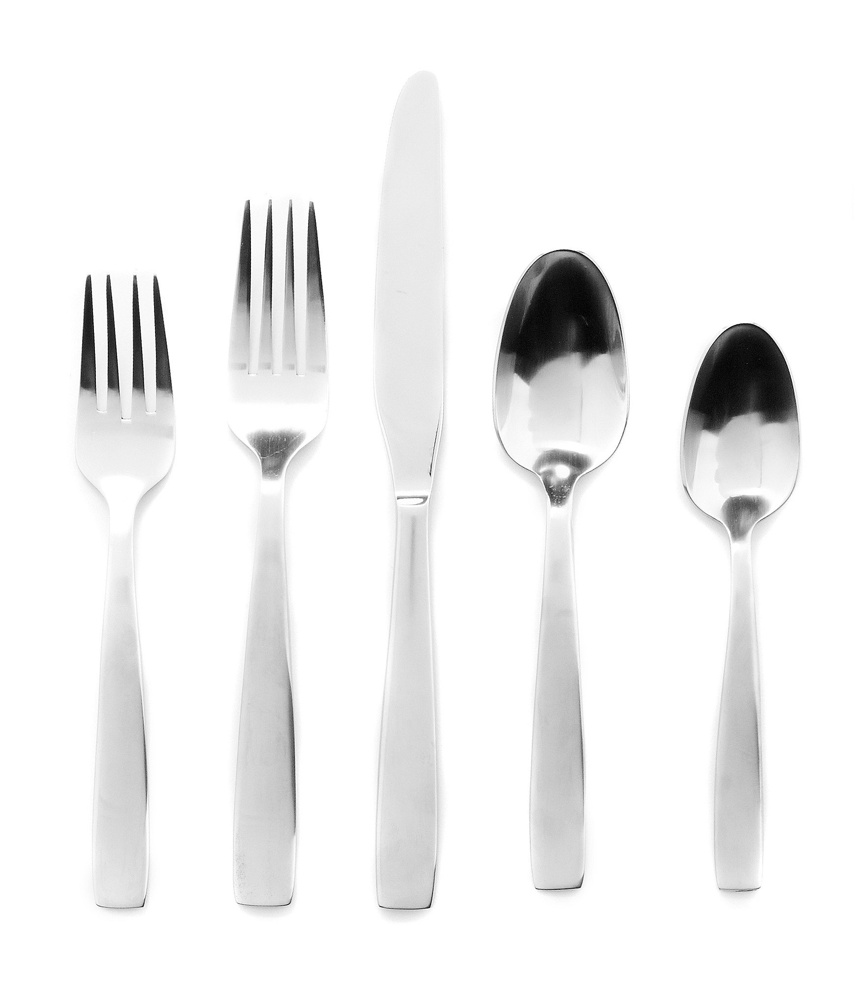 Contemporary Stainless Steel Flatware Oneida Everdine Modern Stainless Steel Flatware Dillards