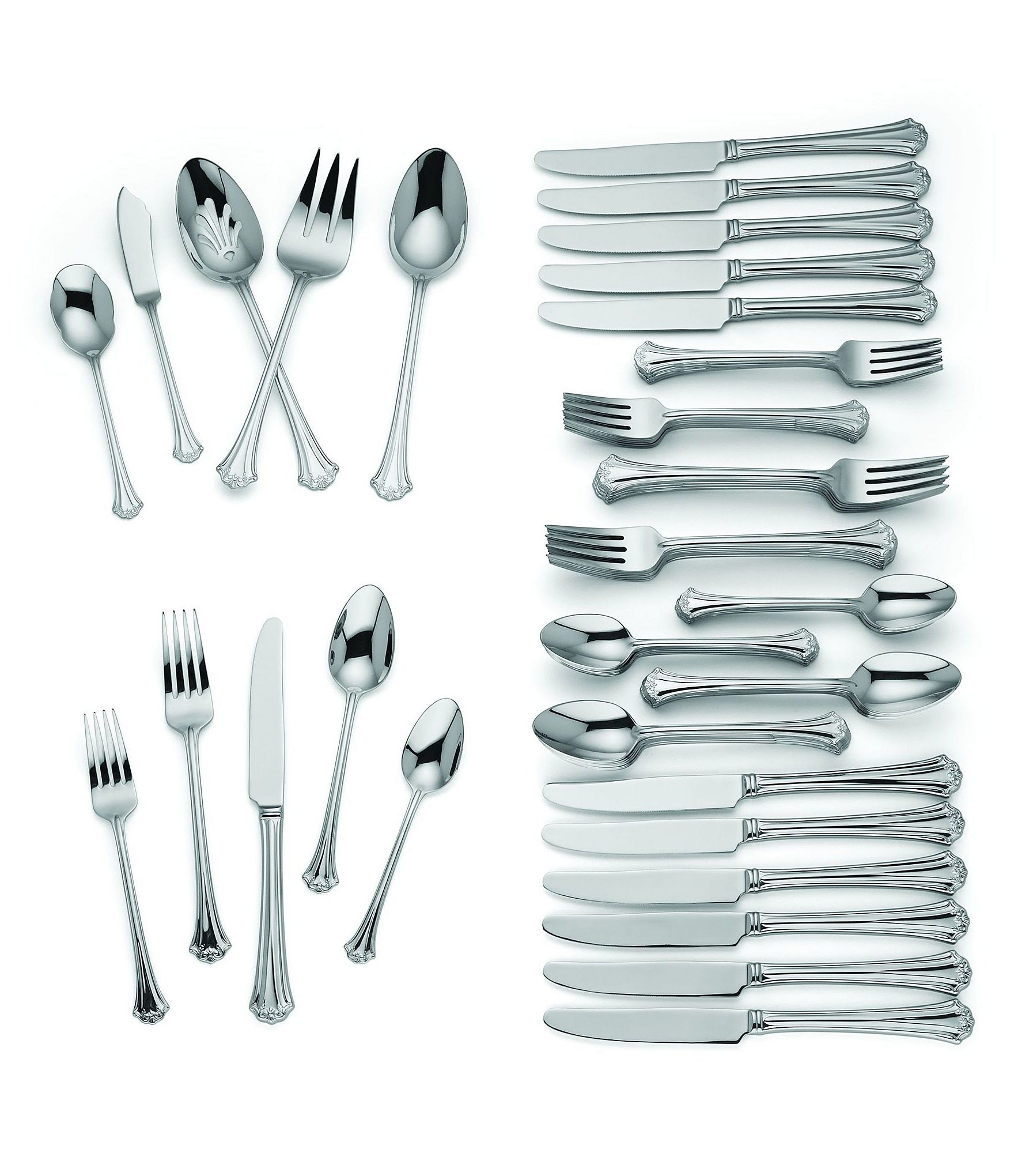 Discount Stainless Flatware Reed Barton French Classic 65 Piece Stainless Steel Flatware Set Dillard S
