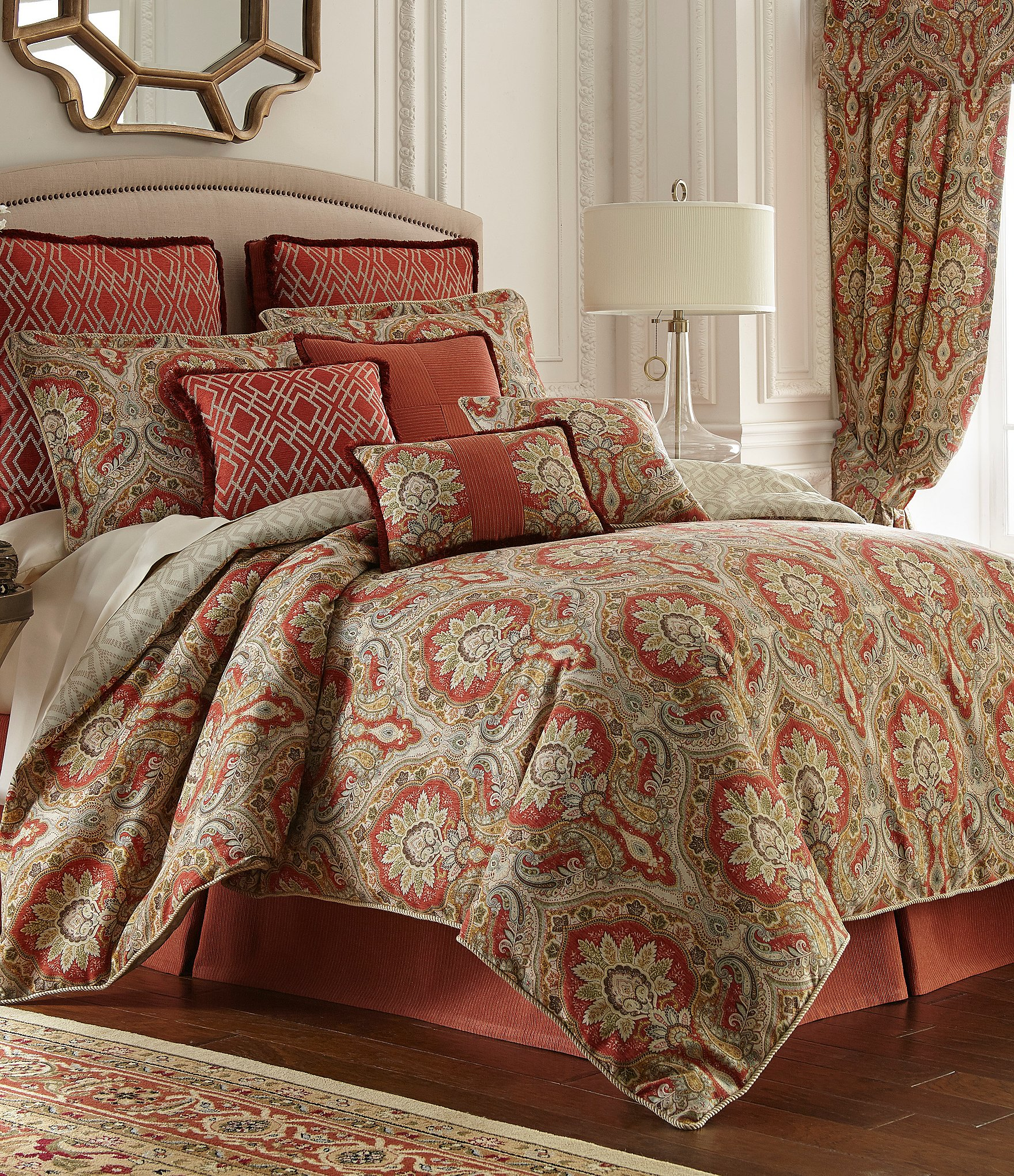 Damask Duvet Rose Tree Harrogate Paisley Damask Geometric Diamond Comforter Set Dillard S