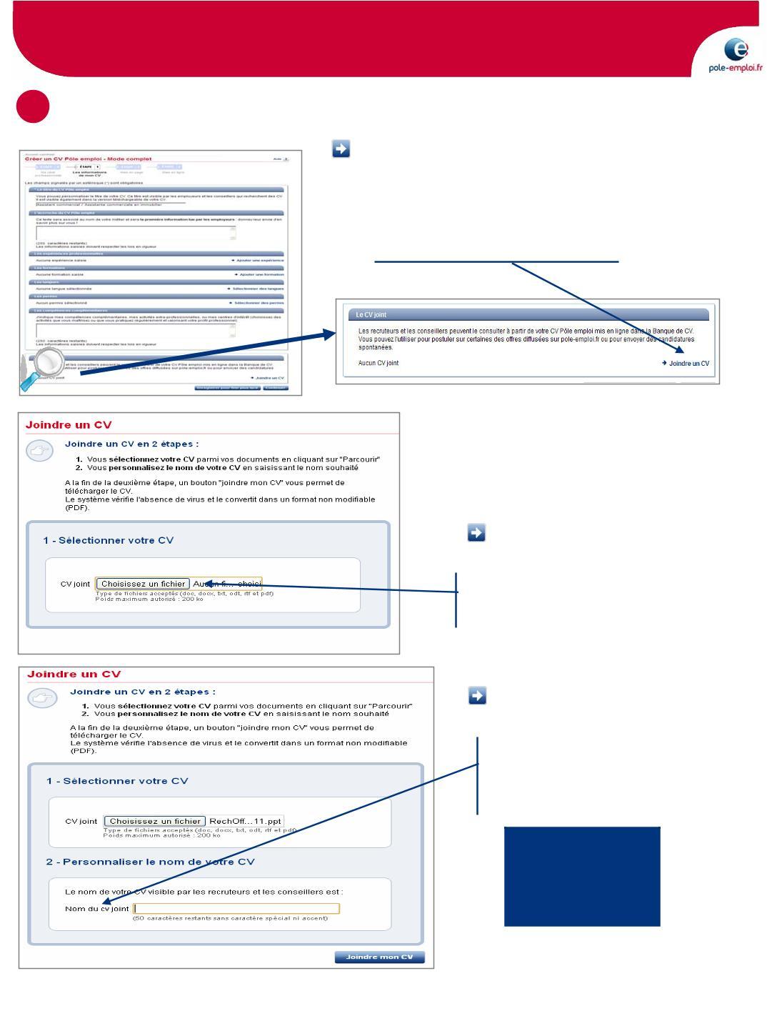 comment deposer un cv en doc docx pdf