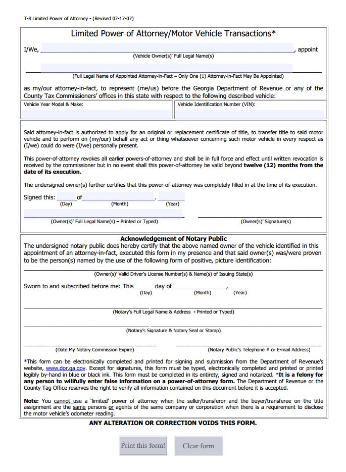 Limited Power Of Attorney Forms Delaware Limited Poa Form Free