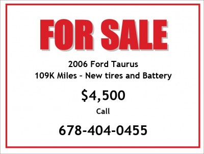 Car For Sale Sign Diminished Value Car Appraisal