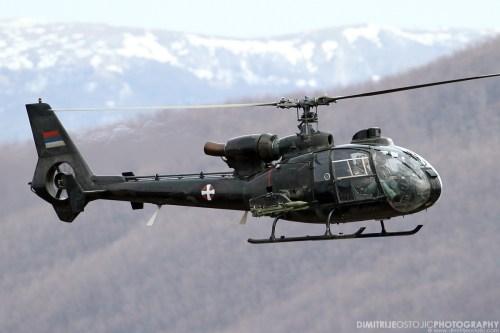 """Sa-341 / Sa-342 Gazelle from 714. pohe """"Senke"""" squad."""