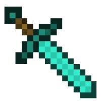 Minecraft Diamond Sword Template