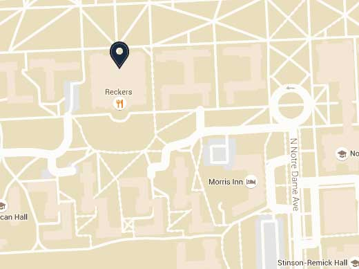Campus Map University of Notre Dame