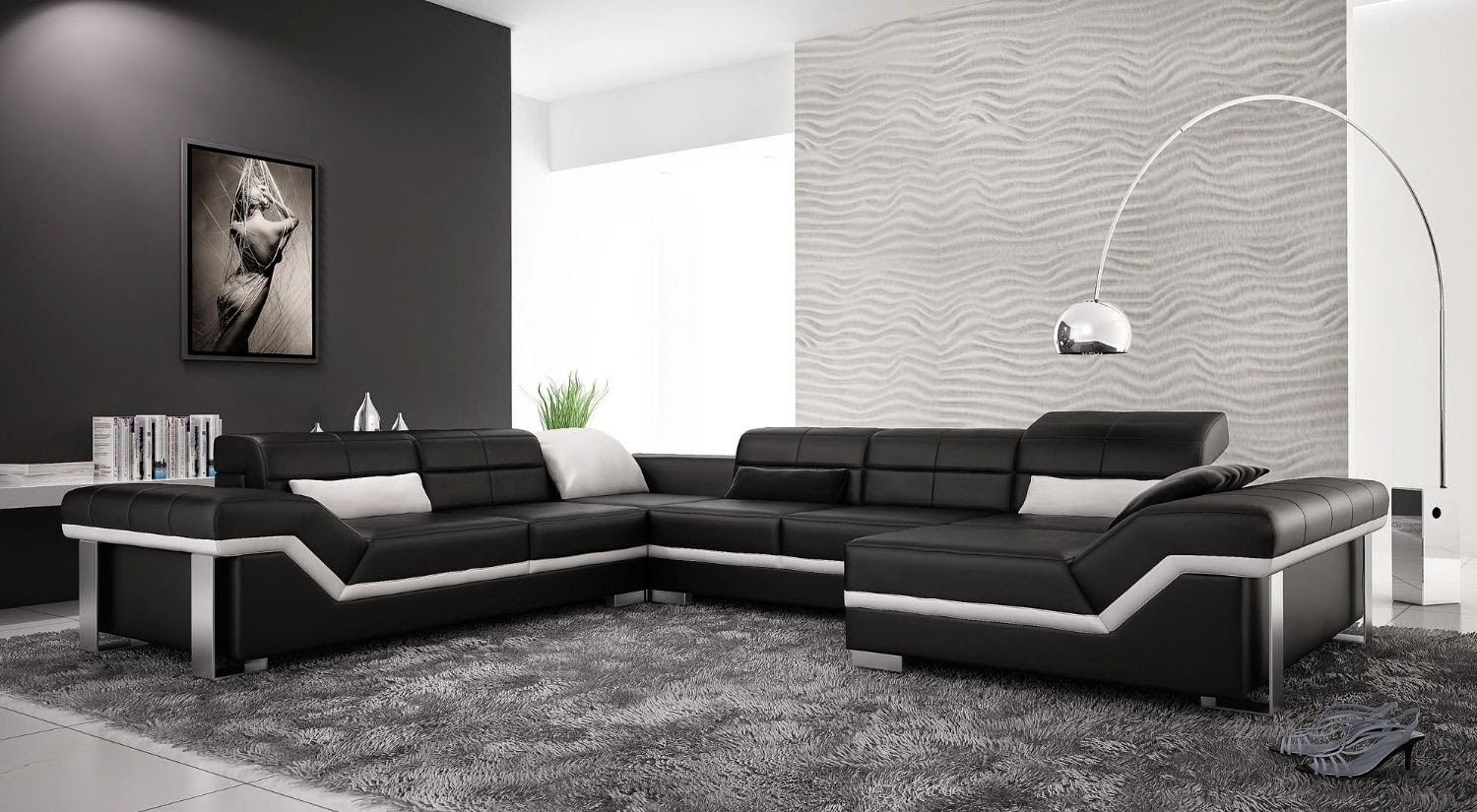 Modern Furniture Living Room Black And White Modern Living Room Furniture