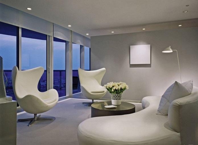 All White Living Room Design Ideas - all white living room