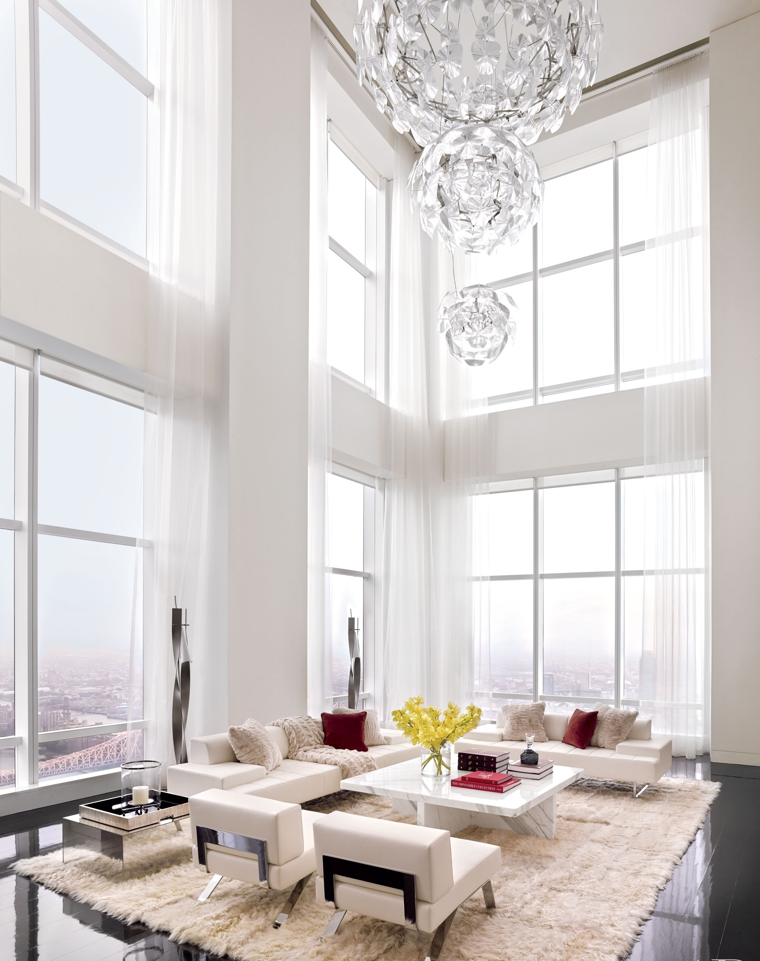 White On White Living Room All White Living Room Design Ideas