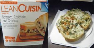 Lean Cuisine Spinach Artichoke Chicken Panini