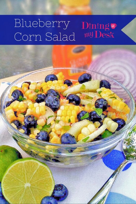 Blueberry Corn Salad - Dining at my Desk