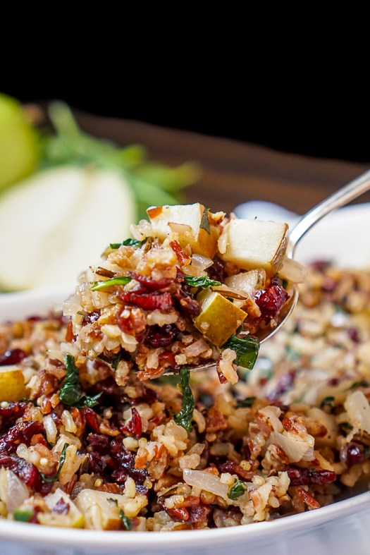 Cranberry-Pear-Spinach-Rice-Pilaf-8