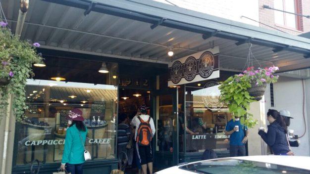 Exterior of orignal Starbucks in Seattle, WA