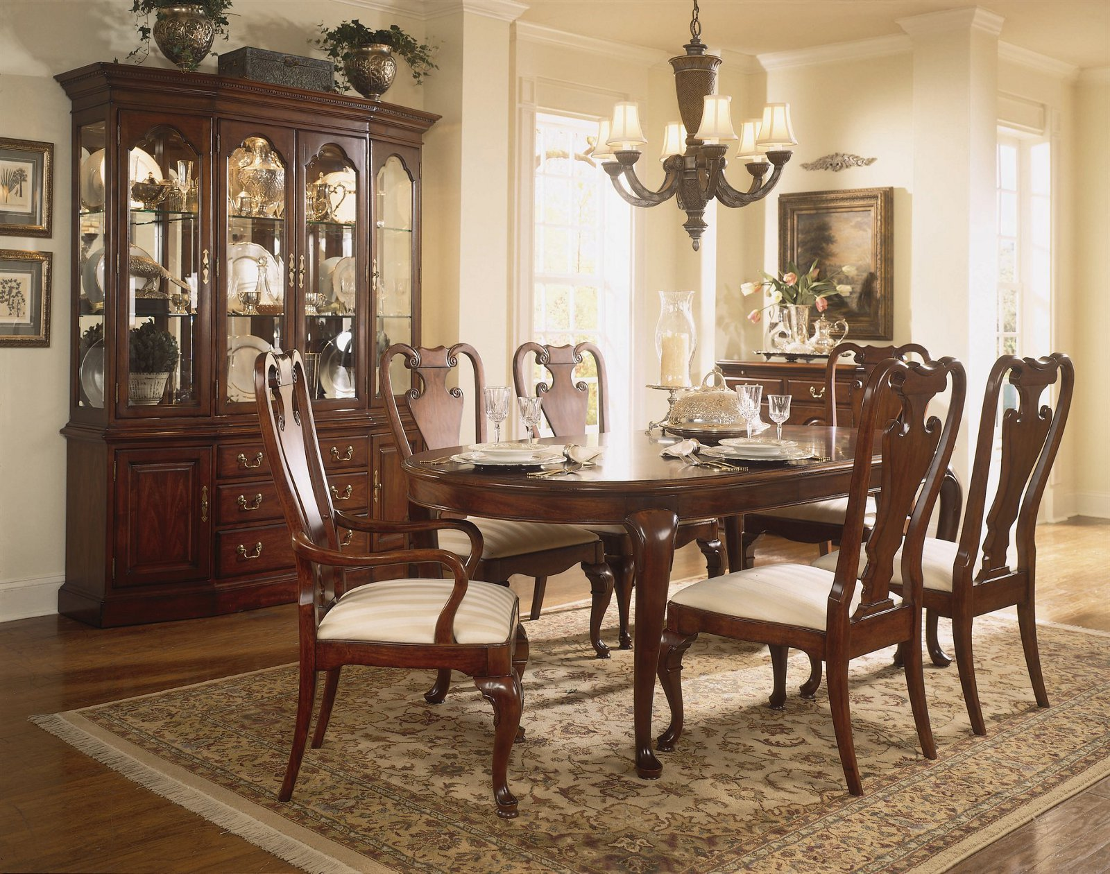 Dining Room Furniture Images American Drew Cherry Grove 7 Pc Oval Leg Dining Set By