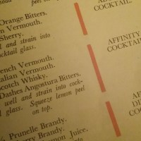 The Affinity Cocktail (1930...or 1929)