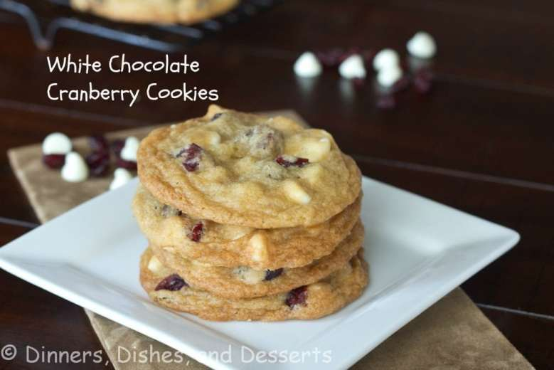 Paleo Rich White Chocolate Cranberry Cookies