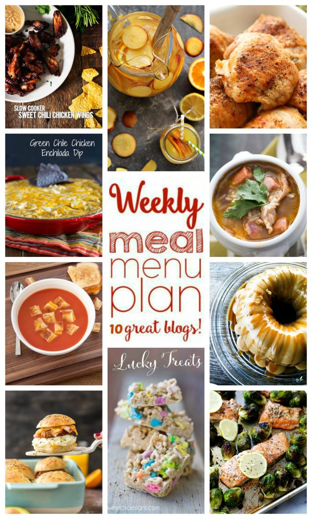 Weekly Meal Plan for January 31 \u2013 February 6 Wishes and Dishes