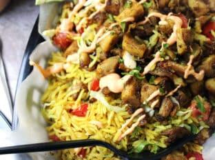 Halal Cart Chicken And Rice Copycat Dinner Then Dessert