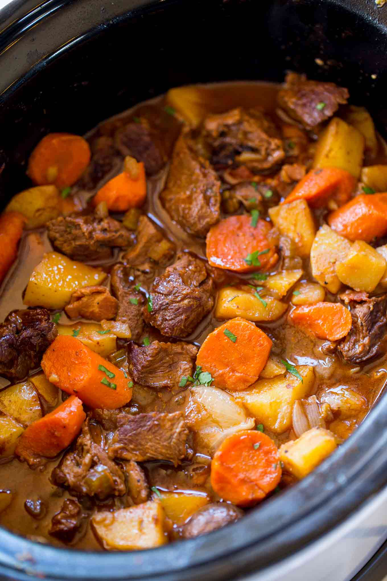 Lamb Meat Cooked Beef Stew Recipe Crock Pot Easy Dandk Organizer