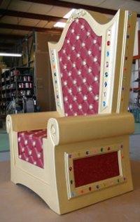 Throne Chair Foam Prop - Santa - Dino Rentos Studios, INC.