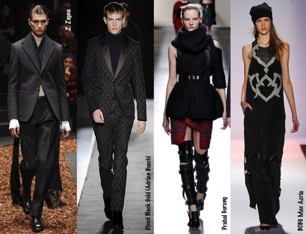 2013 New York Fashion Week - Blacks - Zegna - Diesel Black  Gold - Prabal Gurung - BCBG Max Azria