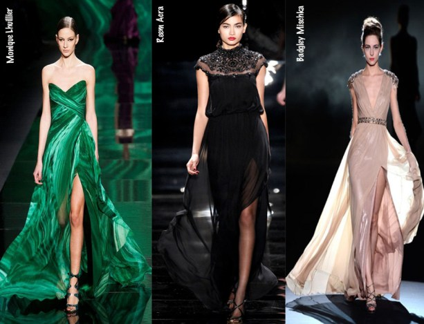 2013 New York Fashion Week - Bold Slits - Monique Lhuillier - Reem Acra - Badgley Mischka