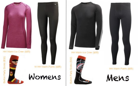 Ski and Snowboard Style Guide - Base Layers - Helly Hansen - Burton