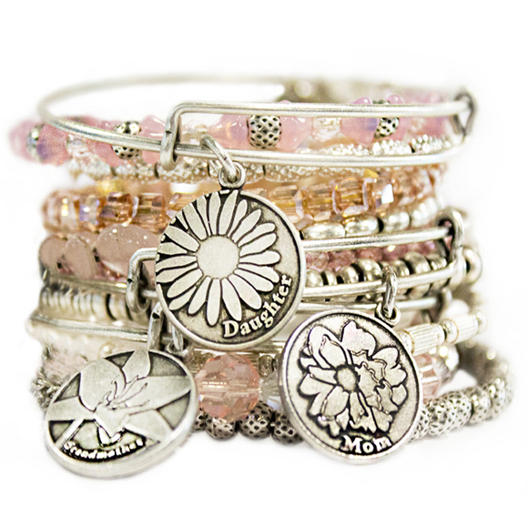 ALEX and ANI Because I Love You Bangle Set