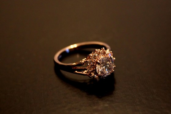 Bee's Knees Gems - 1 Carat CZ 18K Rose Gold Ring
