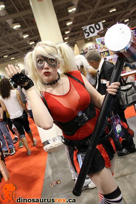 hot girl with hammer cosplay