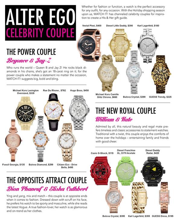 Watch It! Alter Ego Celebrity Couple