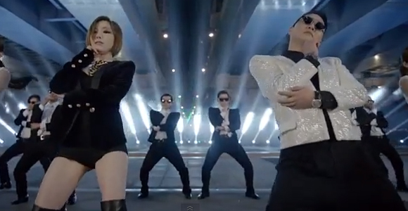 Psy 싸이 and Ga-In 가인