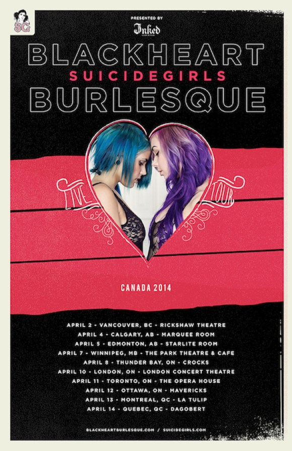 SG Blackheart Burlesque Tour Dates