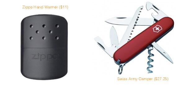 Zippo Hand Warmer & Swiss Army Camper Knife