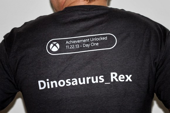 xbox-one-launch-party-toronto-dinosaurus-rex