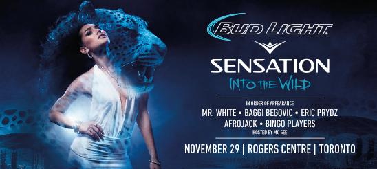 Sensation Canada 2014 - Line Up