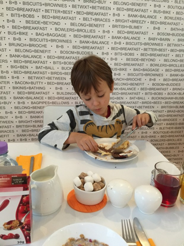 Frühstück im Belgravia B+B