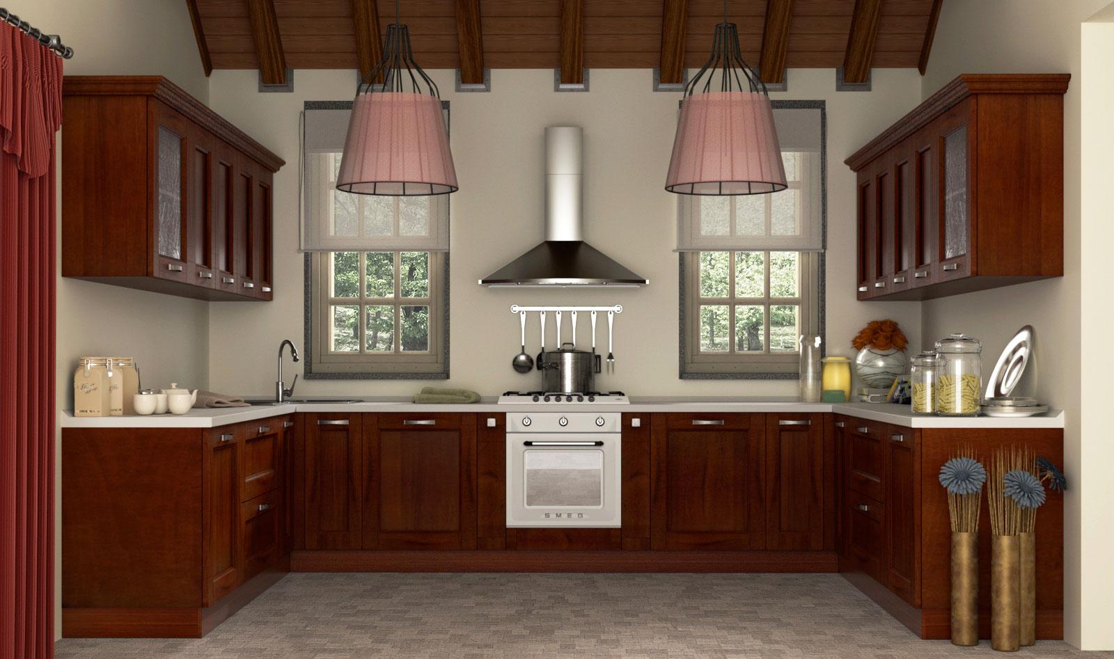 Cucina Legno Massello Chiaro | Cucine In Legno Massello Moderne ...