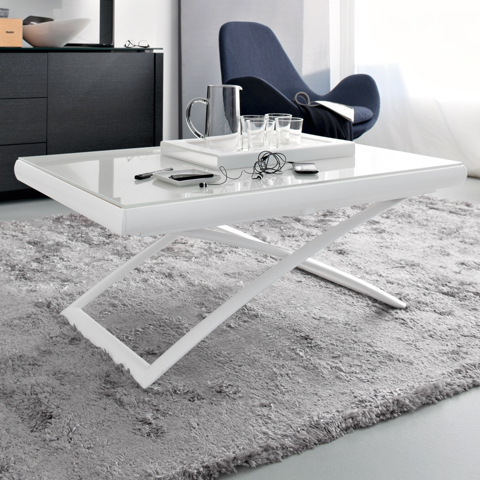 Folding Adjustable Coffee Table Magic J Diotti Com